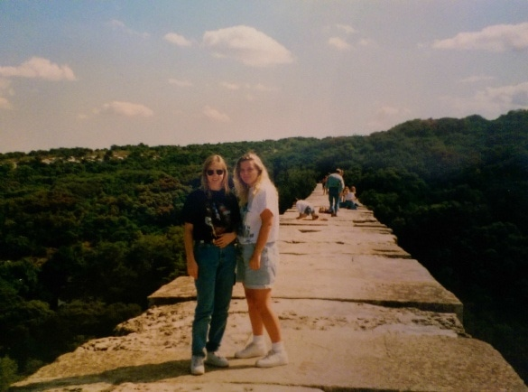 Study abroad because it gets you out of your comfort zone...and on top of the Pont du Gard ancient Roman aquaduct in Gard, France