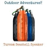 Love music and outdoor adventures? The Turcom Seashell Speaker was made for you.