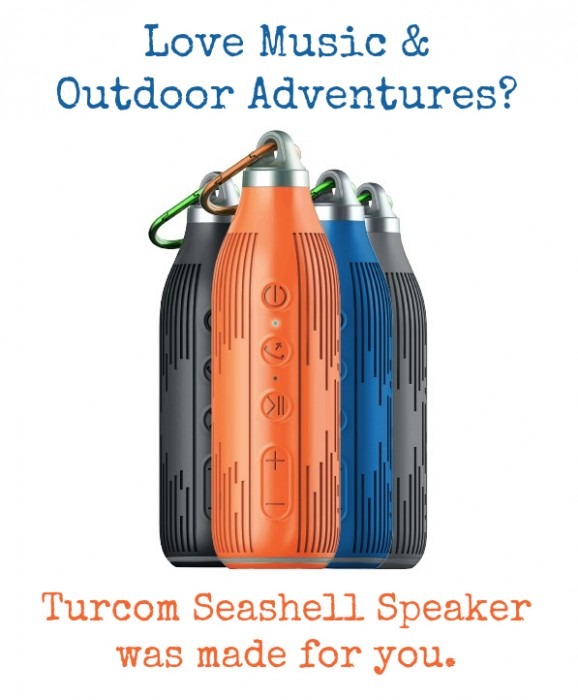 Love music and outdoor adventures? The Turcom Wireless Speaker was made for you.
