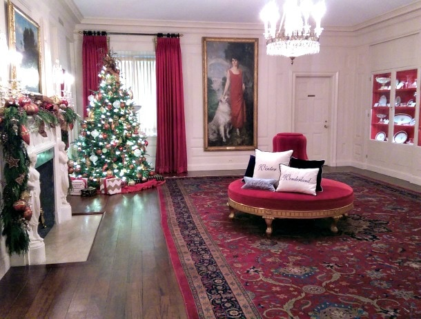 The White House China Room displays over 200 years of china services used by first families (Photo credit: Colleen Lanin)