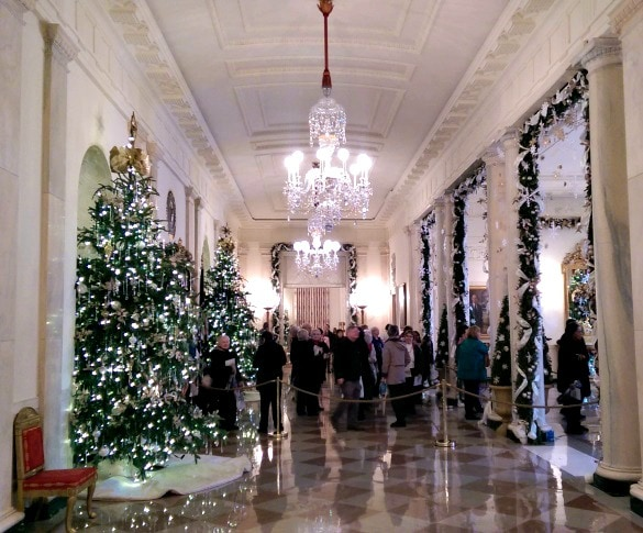 Cross Hall sparkles with faux icicles during the holiday season (Photo credit: Colleen Lanin)