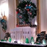 White House gingerbread house made of sugar (Photo credit: Colleen Lanin)