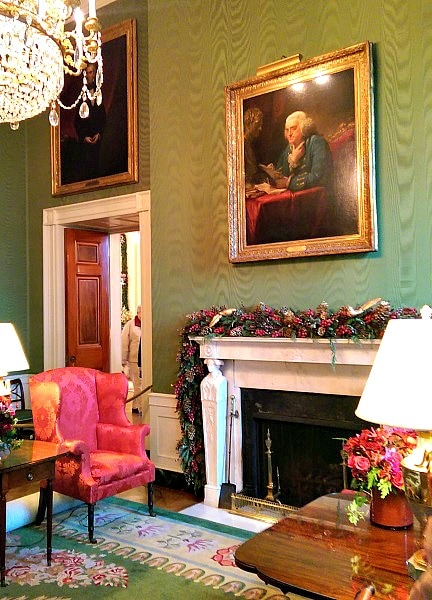 The aptly named Green Room (Photo credit: Colleen Lanin)