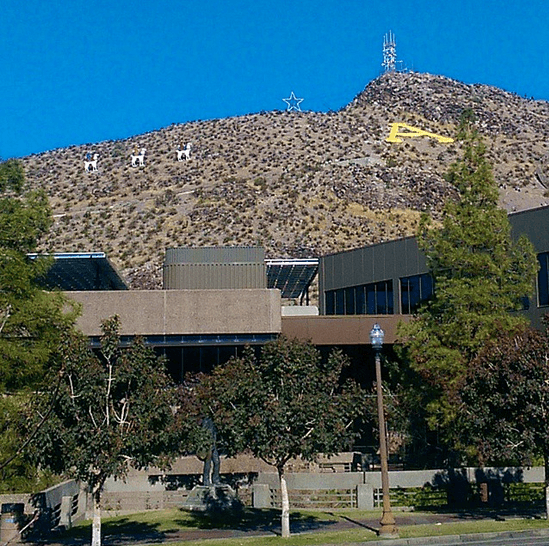 """A"" Mountain at my alma mater, Arizona State University in Tempe (Photo credit: Colleen Lanin)"
