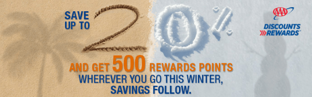 Best Western and AAA winter discounts and bonus