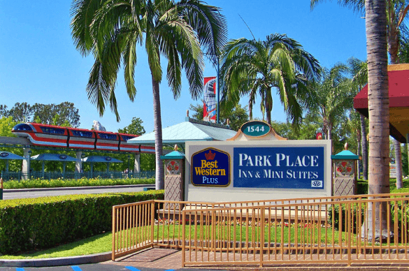 The Best Western Plus Park Place Inn - Mini Suites in Anaheim is literally just steps from the entrance to Disneyland