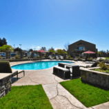 Dive into this heated outdoor pool at the Best Western Premier Ivy Hotel Napa after a day of wine tasting in California Wine Country