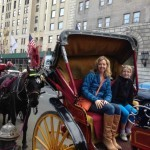 mother and daughter carriage ride