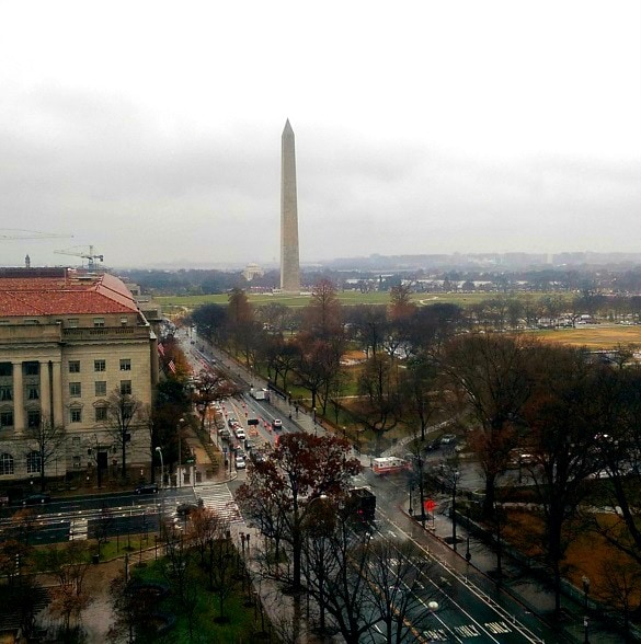 View of the Washington Monument from the W Hotel (