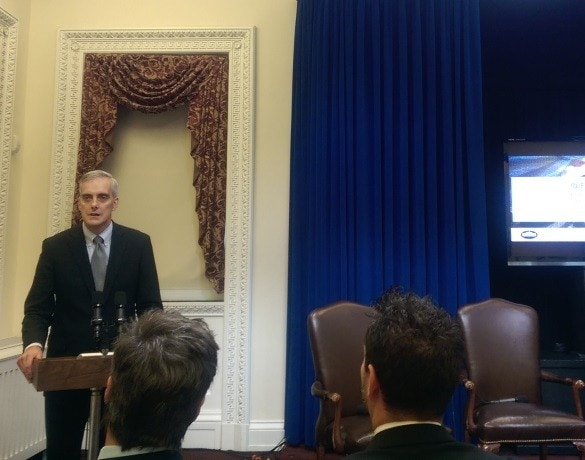 Chief of Staff Denis McDonough speaking at the White House Travel Blogger Summit on Study Abroad and Global Exchange