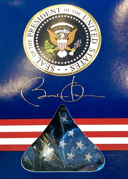These presidential Hershey Kisses were waiting for me on my chair at the White House Travel Blogger Summit