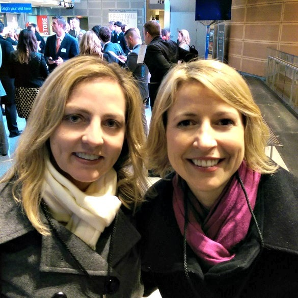 Posing for a photo with the Travel Channel's Samantha Brown