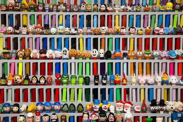 PEZ Dispensers at the Burlingame Museum of PEZ Memorabilia