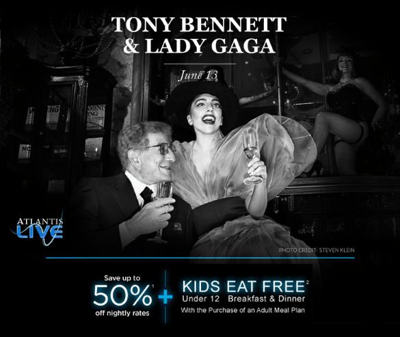Tony Bennett and Lady Gaga concert at the Atlantis Resort