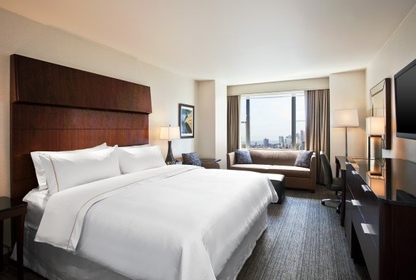 Why yes, I could fit all four suitcases easily into this New York City hotel room! (Photo credit: Westin Grand Central)