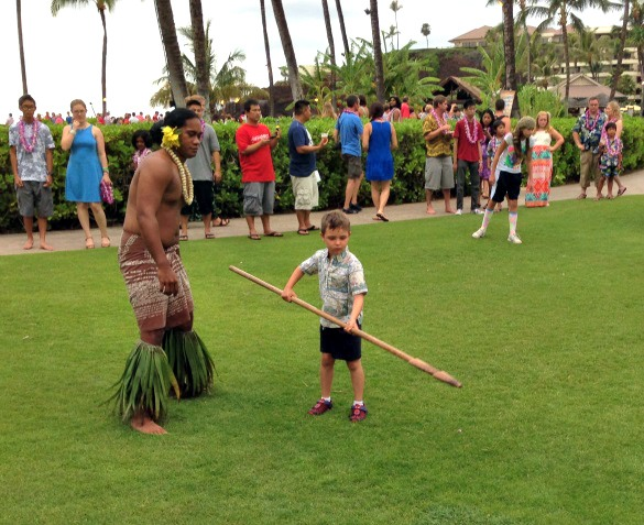 Spear-throwing was just one of the fun activities at the Sheraront's Maui Nui at Black Rock