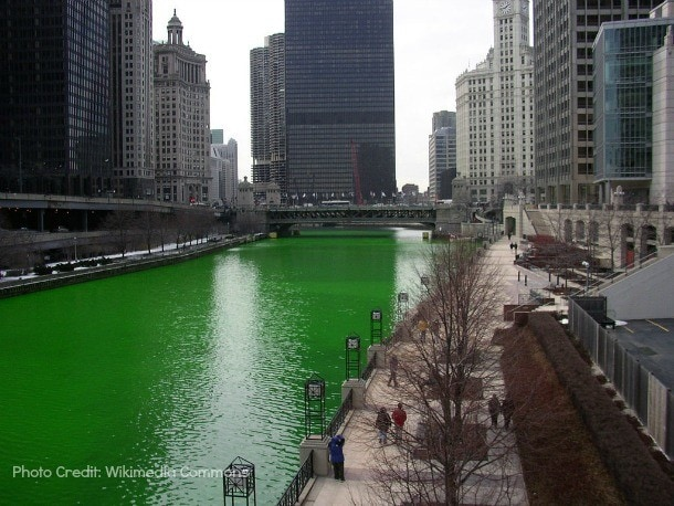 chicago river green st. patrick's day