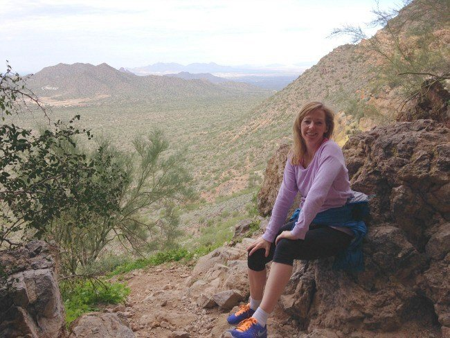 I needed that rest after hoofing it up the Wind Cave Trail! (Photo credit: Jody Robbins)