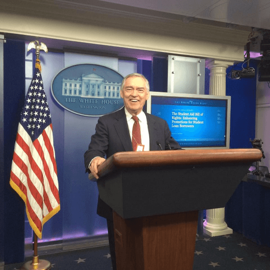 Pretending to be President in the White House Press Room
