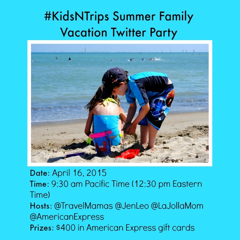 #KidsNTrips Summer Family Vacation Twitter Party