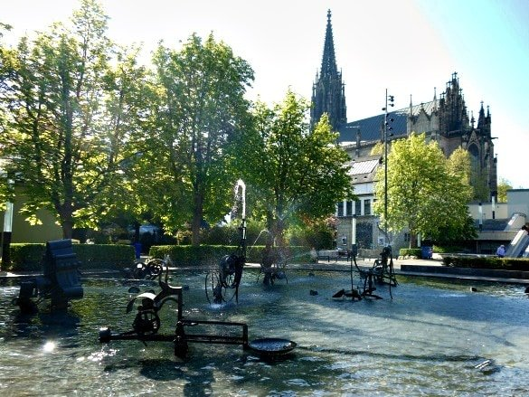 Tinguely Fountain in Basel, Switzerland