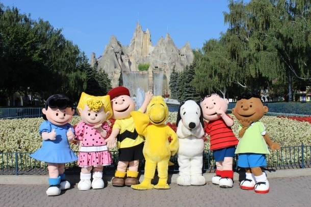 Peanuts characters wander through Canada's Wonderland (Photo credit: Canada's Wonderland)