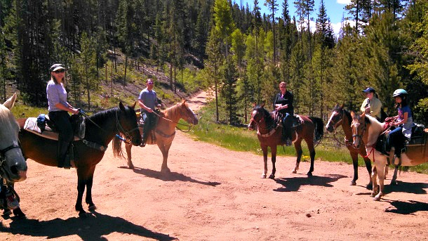 Exploring Keystone Mountain by horseback (Photo credit: Travel Mamas)