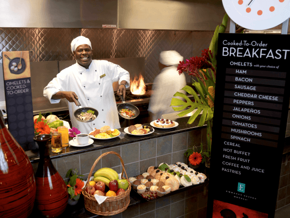 As always, your family can enjoy a hot, cooked-to-order breakfast during your stay at Embassy Suites