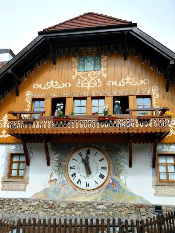 A huge cuckoo clock at Hofgut Sternen's Cuckoo's Nest