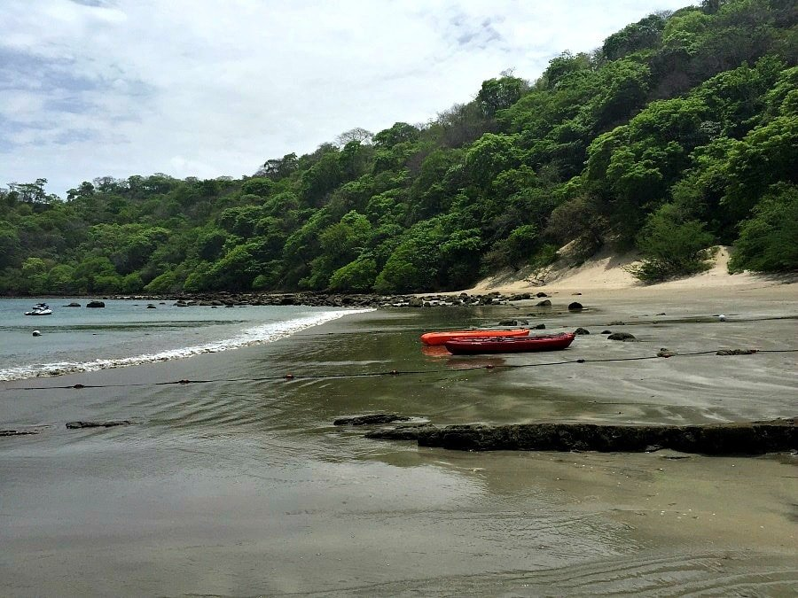 Kayaks at El Jobo Beach in Guanacaste, Costa Rica