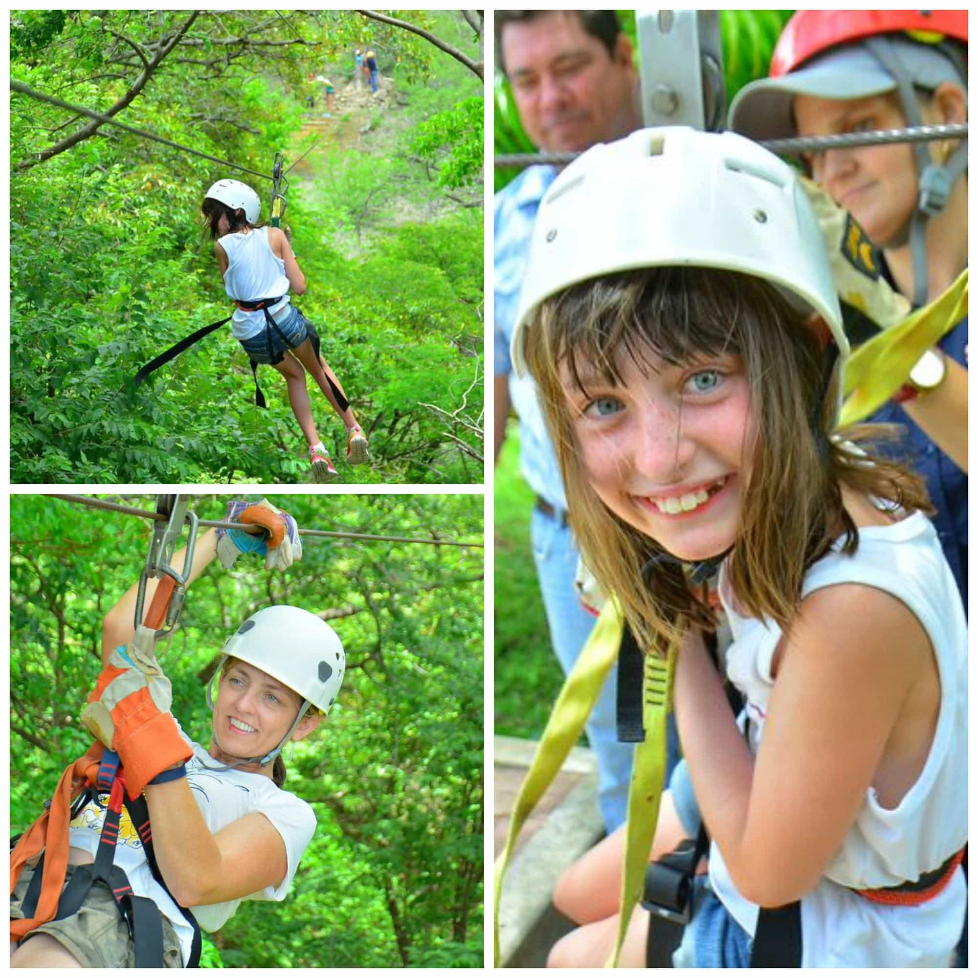 Zip-lining in Guanacaste with kids