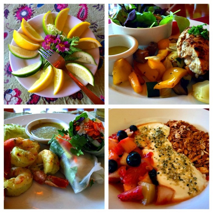 The beautifully presented and delicious, healthy meals at Mountain Trek Retreat