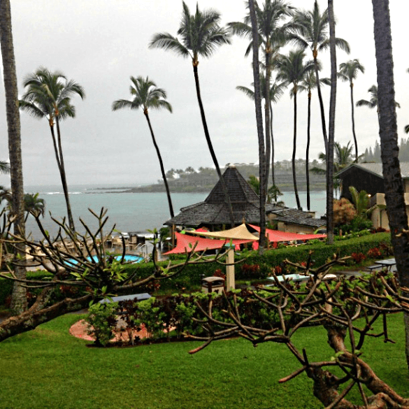 The Gazebo at Outrigger Napili Shores sits right on the beac