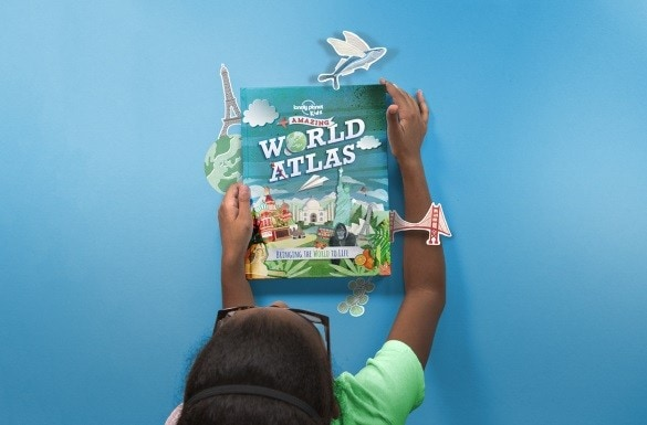 """Enter to win five Lonely Planet Kids books, including """"Amazing World Atlas"""""""