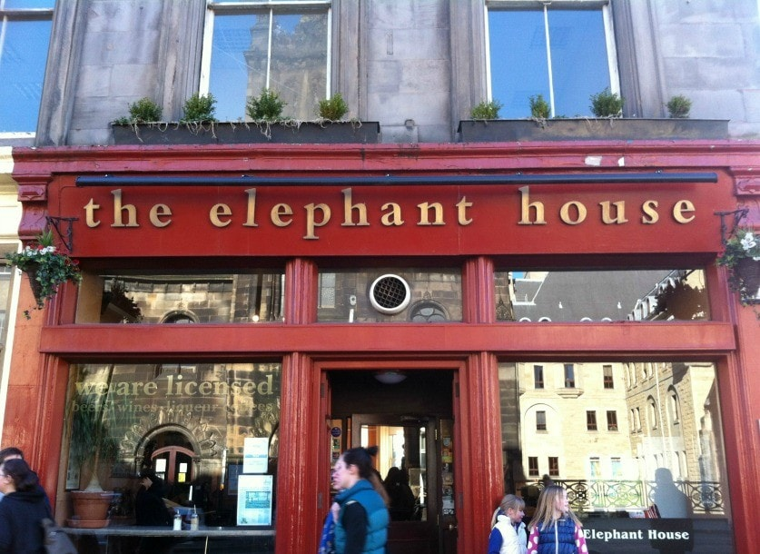 "The Elephant House it's also known as the ""birthplace of Harry Potter."" (Photo credit: Pilar Clark)"