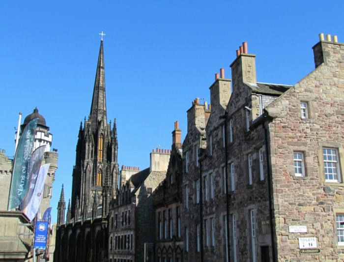 Walk the cobblestone streets of Old Town, which is the oldest part of Edinburgh. (Photo credit: Pilar Clark)