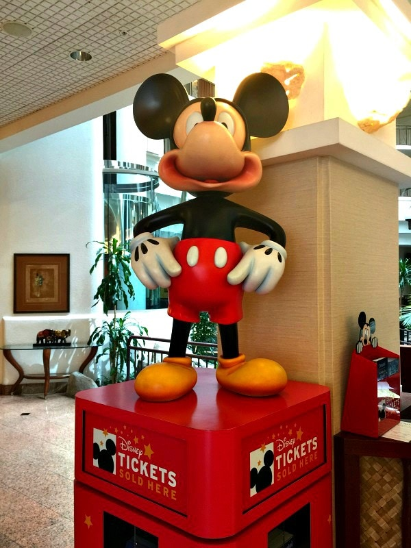 Purchase shuttle tickets and Disneyland passes in the Embassy Suites Anaheim South lobby