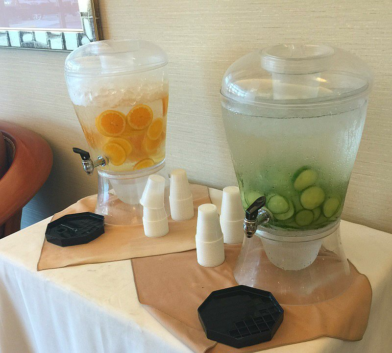 Quench your thirst in the Embassy Suites Anaheim South lobby