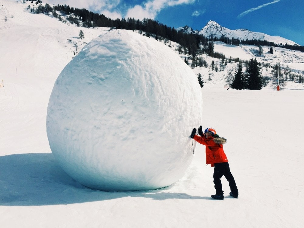 Snowy fun at Les Arc Ski Resort in Savoie - Top 10 Destinations in France for Families