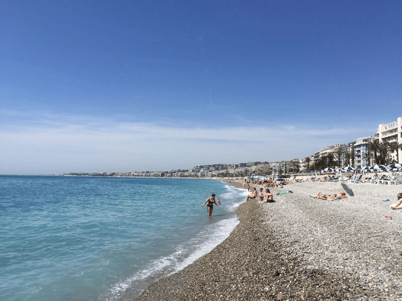 Beach playtime in Nice, the queen of the French Riviera - Top 10 Destinations in France for Families
