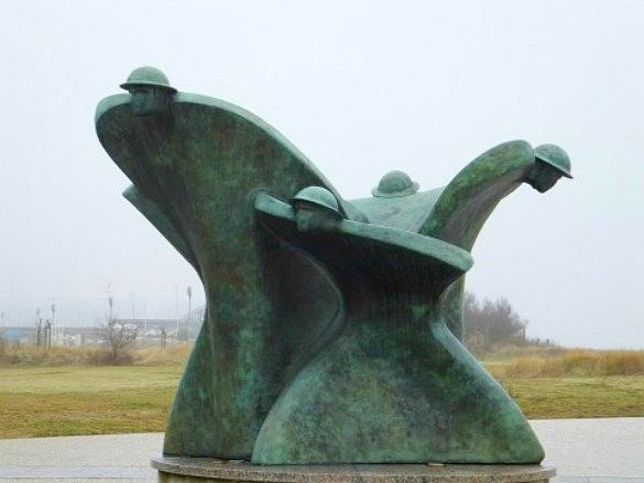 Juno Beach statue in Normandy - 10 Best Destinations in France for Families