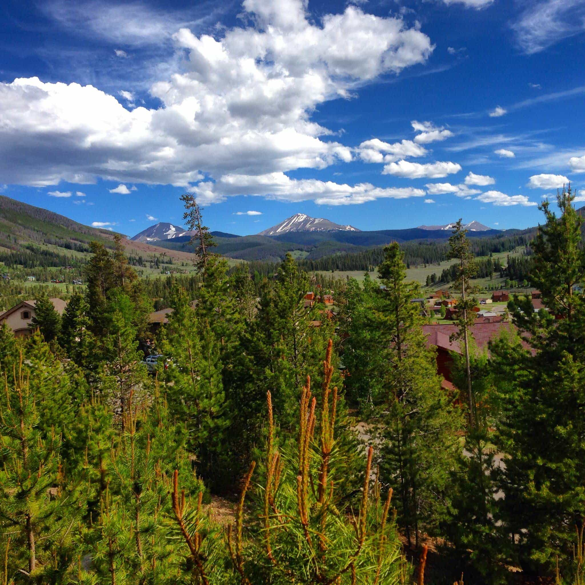 The view from our vacation rental home in Keystone, Colorado