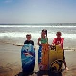 Boogie boarding at Fletcher Cove Beach - Fabulous fun in Solana Beach & Del Mar, California