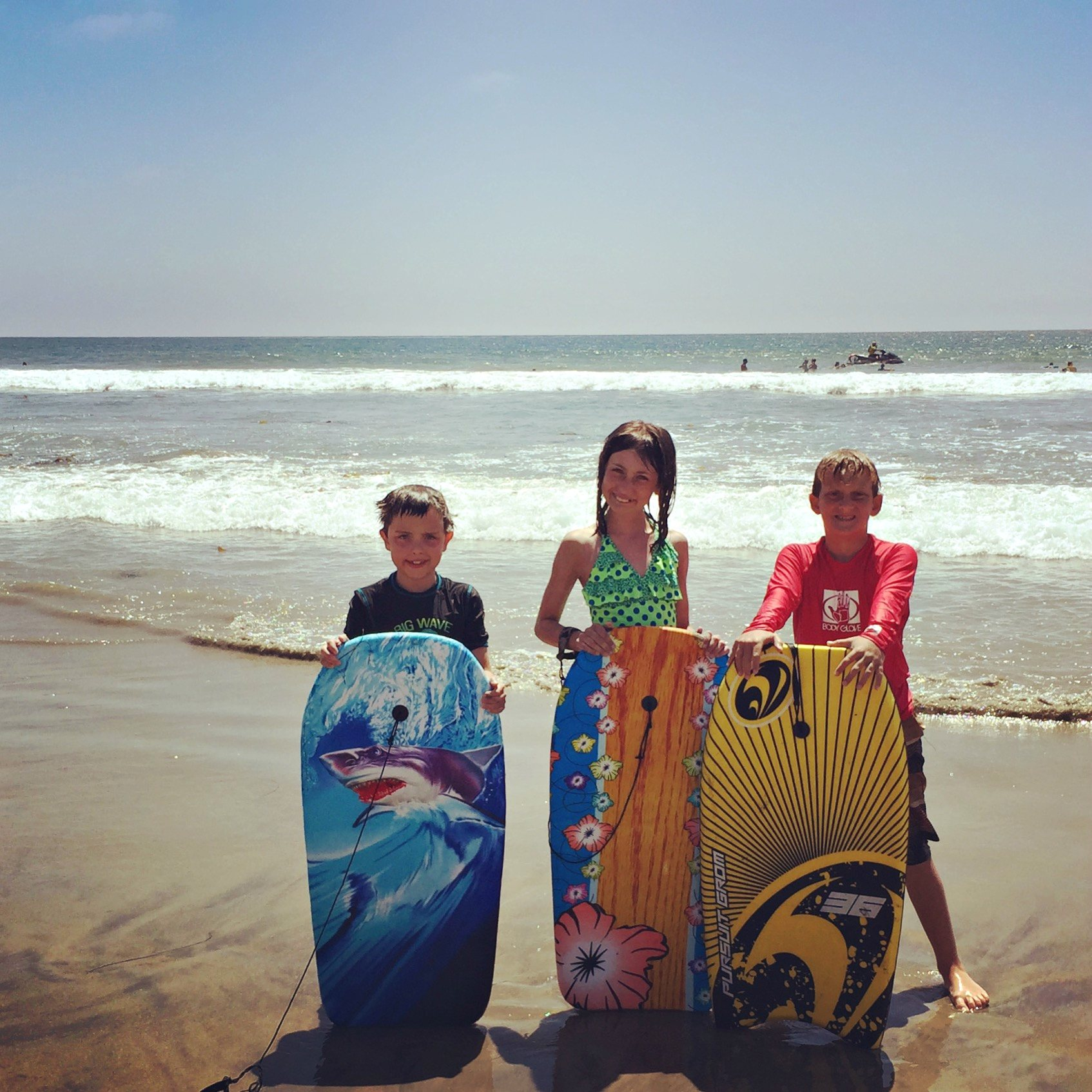 Boogie boarding at Fletcher Cove in Solana Beach - Fabulous fun in Solana Beach & Del Mar