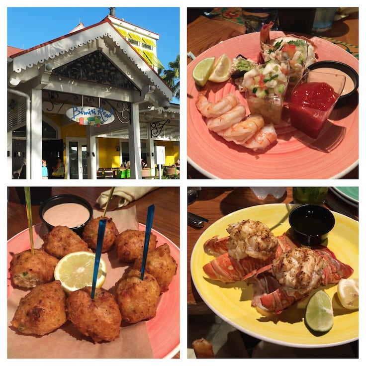 Five Things to Do in Paradise Island with Kids in the Bahamas - Families can eat like a local at Bimini Road in Marina Village.