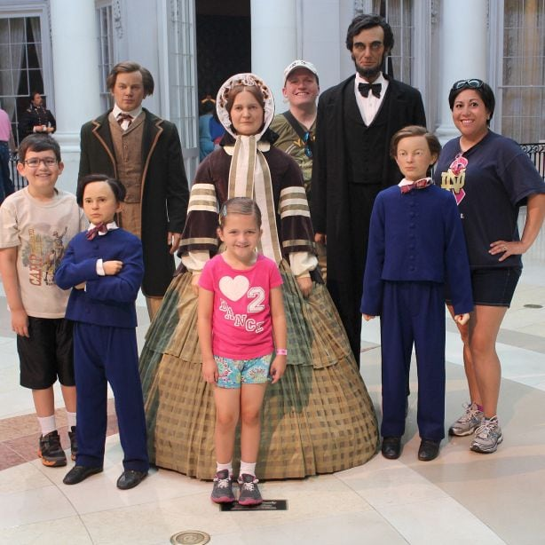 Don't miss this unusual photo opp with wax figures of the Lincoln family at the Abraham Lincoln Presidential Museum
