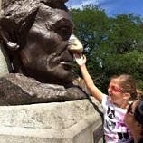 Local folklore says that rubbing Lincoln's nose will bring you good luck! (Photo credit: Pilar Clark)