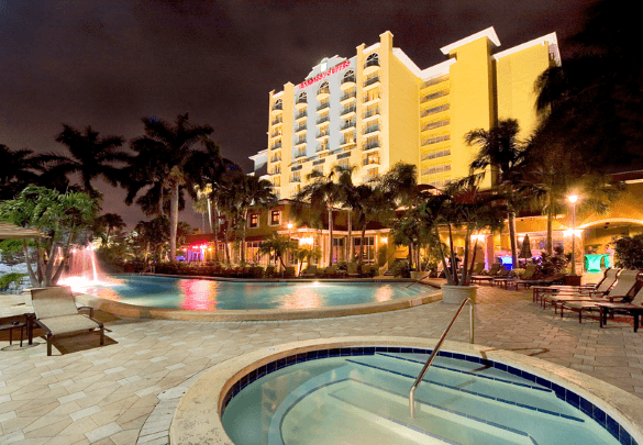 Best Embassy Suites Pools! Palm-lined Pool: Embassy Suites Fort Lauderdale - 17th Street Fort Lauderdale, Florida