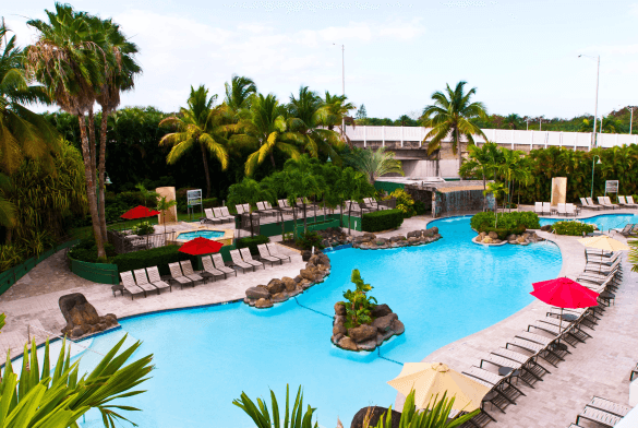 10 Best Embassy Suites Pools! Pool with Waterfall: Embassy Suites San Juan - Hotel & Casino San Juan, Puerto Rico