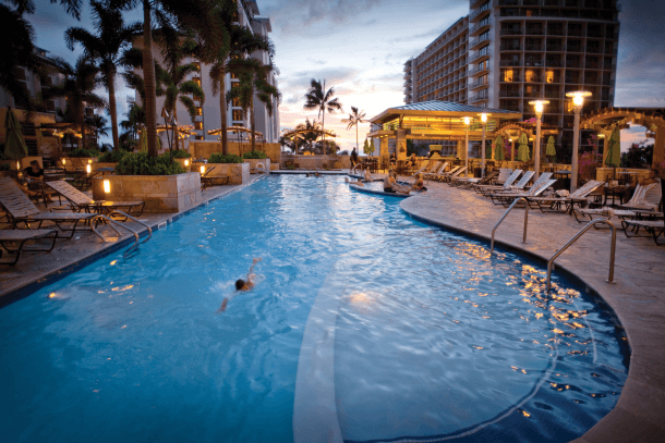 10 Best Embassy Suites Pools! Spirit of Aloha Pool: Embassy Suites Waikiki Beach Honolulu, Hawaii